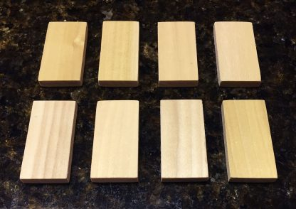 "ActionCraftworks.com 2""x1"" x 1/4"" Poplar dominoes top"