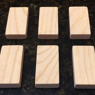 "ActionCraftworks.com 2""x1"" x 3/8"" Pine dominoes top"