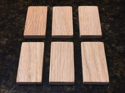 "ActionCraftworks.com 2""x1"" x 1/4"""" Oak dominoes top"