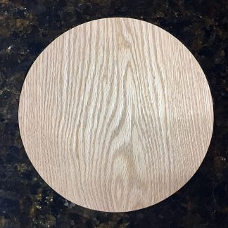 "ActionCraftworks.com Oak Circle 1/2"" top"