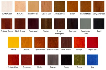 ActionCraftworks.com General Finishes stain chart