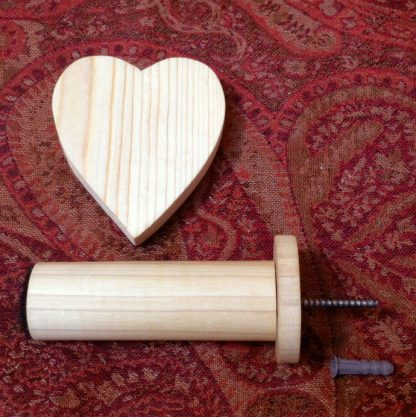 ActionCraftworks.com heart curtain holdback close parts