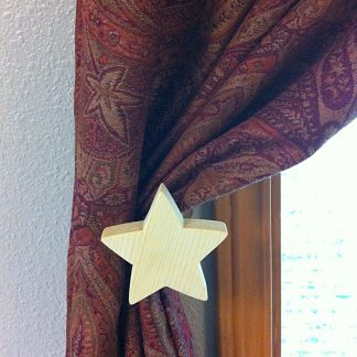 ActionCraftworks.com star curtain holdback curtain front