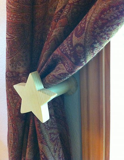ActionCraftworks.com star curtain holdback curtain angle
