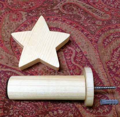 ActionCraftworks.com star curtain holdback close parts