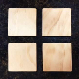 "ActionCraftworks.com 3/8"" thick Pine squares 4 set top"