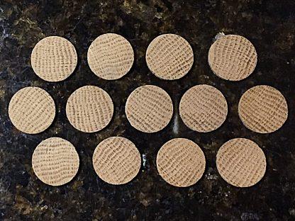 """ActionCraftworks.com 1"""" diameter Oak circles top"""