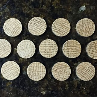 "ActionCraftworks.com 3/4"" diameter Oak circles top"