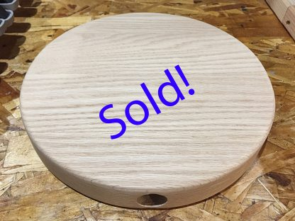 ActionCraftworks.com sold custom Oak circle with hole for Guy