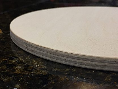 """ActionCraftworks.com Baltic Birch Plywood Circle 3/8"""" edge detail"""
