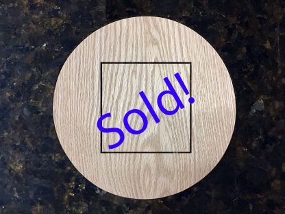 ActionCraftworks.com Oak circle with square cutout door sold