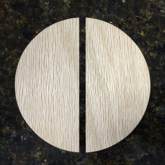 ActionCraftworks.com Oak circle cut in half