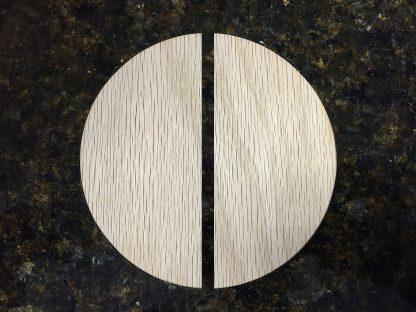 ActionCraftworks.com Oak circle cut in half