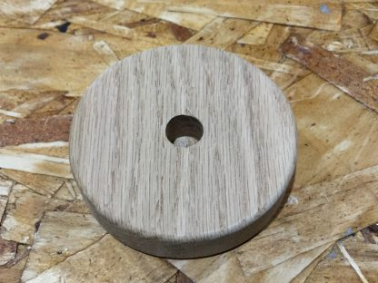 """3 inch x 3/4"""" oak with hole and edge routing"""