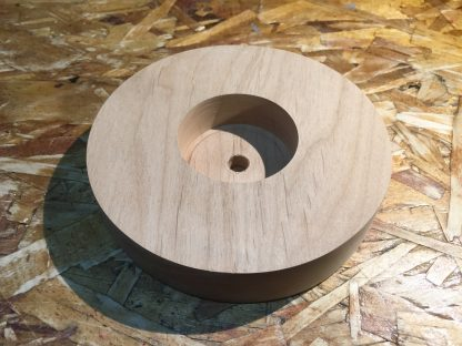 5 inch Alder circle with 2 inch hole countersunk