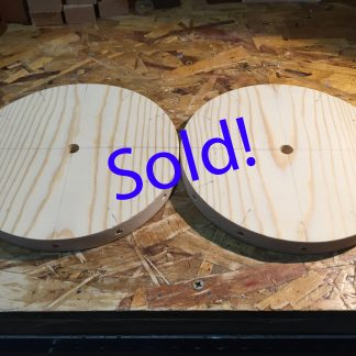 "Custom order for Karen: 7.5"" x 3/4"" Pine circle with 13 holes"