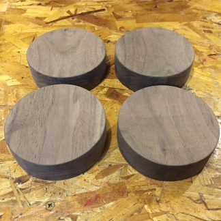 Walnut 4.5 x 1.5 circles