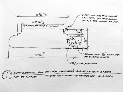 ActionCraftworks.com William C porch base shop drawing