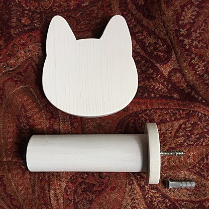 ActionCraftworks.com White cat head curtain holdback parts